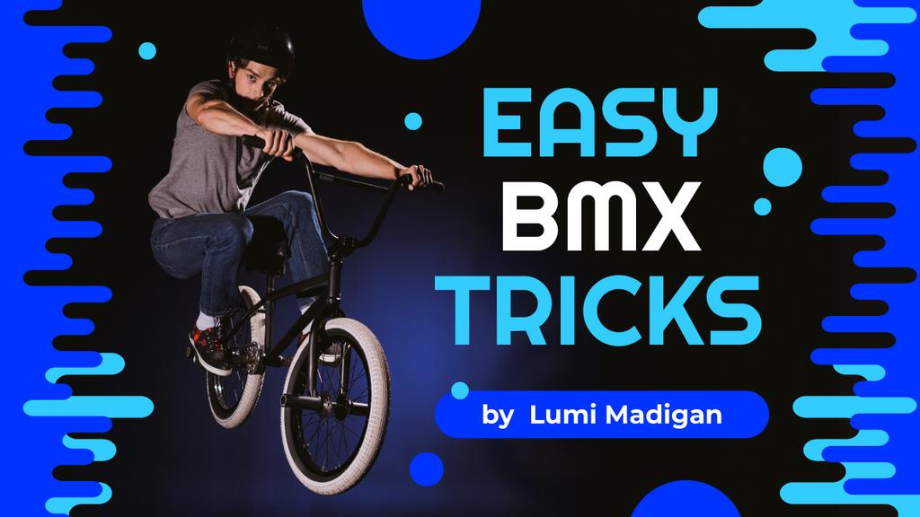 BMX Tricks Man Jumping on Bike — Crear un diseño