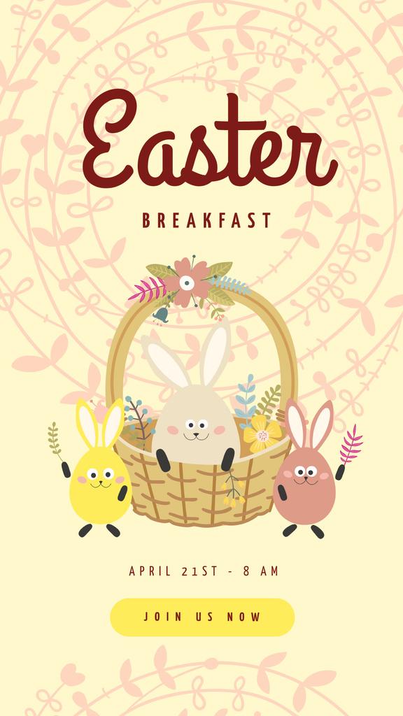 Cute Easter bunnies — Створити дизайн