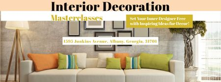Masterclass of Interior decoration Facebook coverデザインテンプレート
