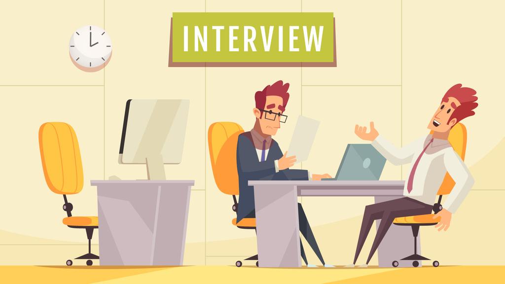 Man at job interview — ein Design erstellen