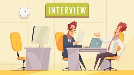 Designvorlage Man at job interview für Full HD video