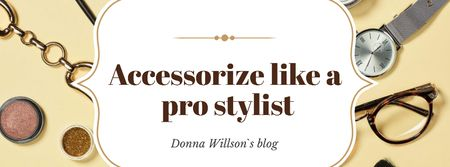 Designvorlage Accessories Guide Fashion Look Composition für Facebook cover