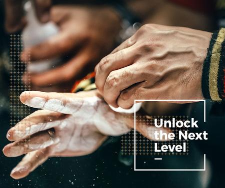 Motivational Quote with Climber holding Chalk Facebook – шаблон для дизайну