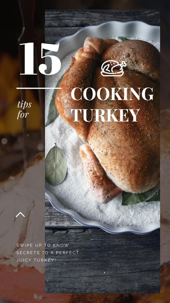 Thanksgiving Recipe Roasted Whole Turkey | Vertical Video Template — Crea un design