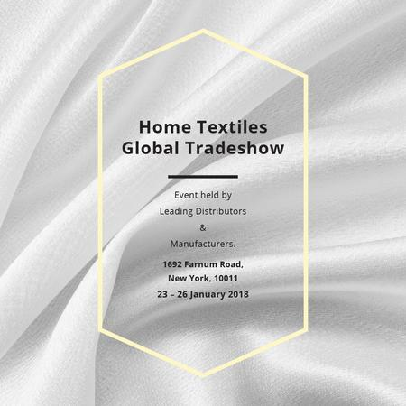Modèle de visuel Home Textiles event announcement White Silk - Instagram AD