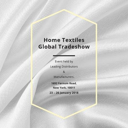 Home Textiles event announcement White Silk Instagram AD Modelo de Design
