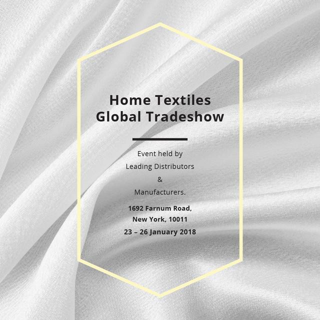 Modèle de visuel Home Textiles event announcement White Silk - Instagram AD