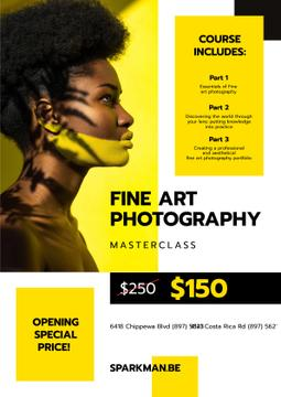 Photography Masterclass Promotion Woman with Creative Makeup