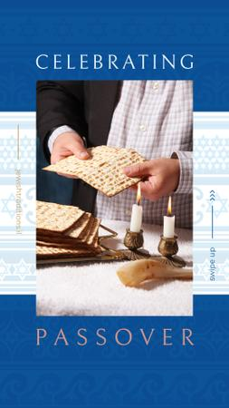 Happy Passover holiday Instagram Story Modelo de Design