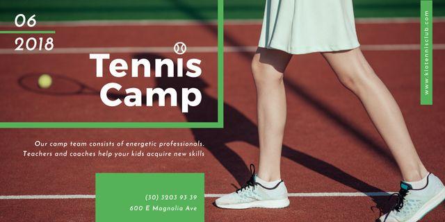 Tennis Camp postcard Image – шаблон для дизайну