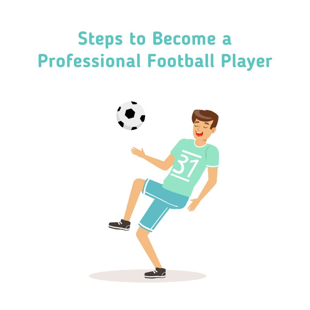 Man playing football — Crea un design