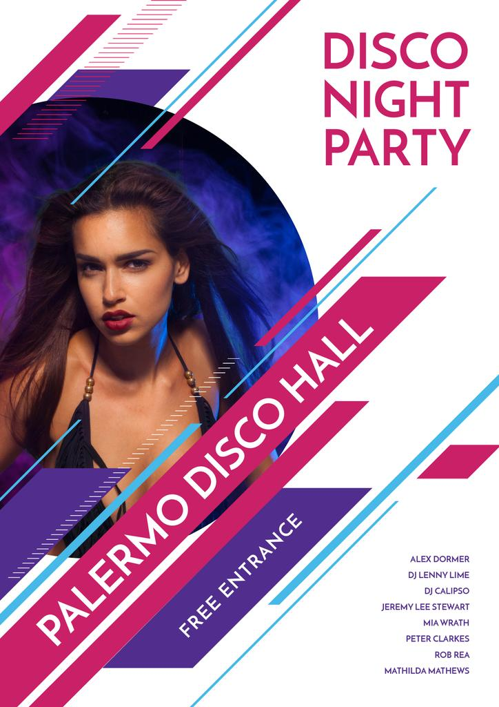 Disco night party in Palermo Disco Hall — Modelo de projeto