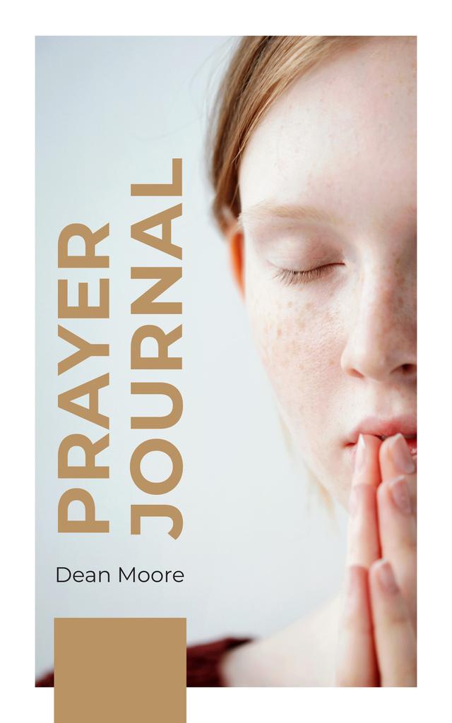 Young Woman Praying | eBook Template — Создать дизайн