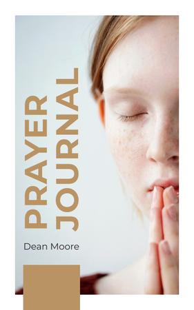 Plantilla de diseño de Young Woman Praying Book Cover