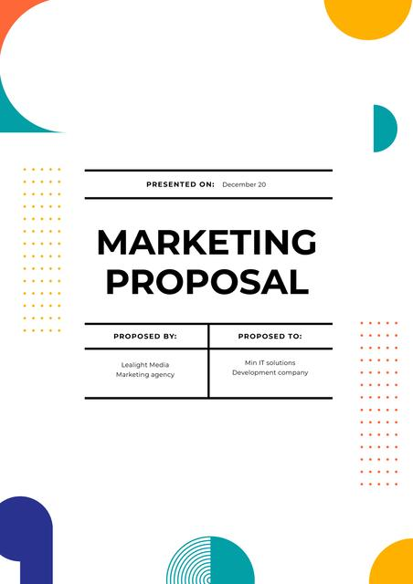 Plantilla de diseño de Marketing agency services offer Proposal