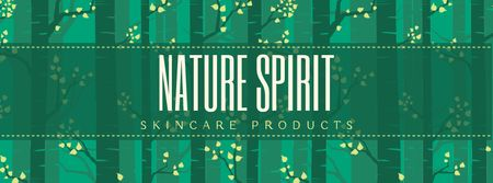 Skincare Products ad Trees in green forest Facebook Video cover Modelo de Design
