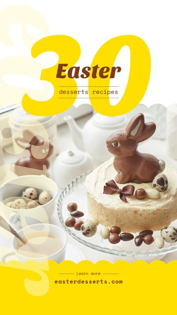 Chocolate Easter eggs and seets Instagram Story Modelo de Design