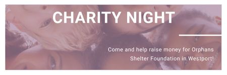 Plantilla de diseño de Corporate Charity Night Email header