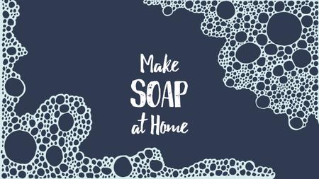 Template di design Handmade Soap Ad Pattern with Bubbles Youtube Thumbnail