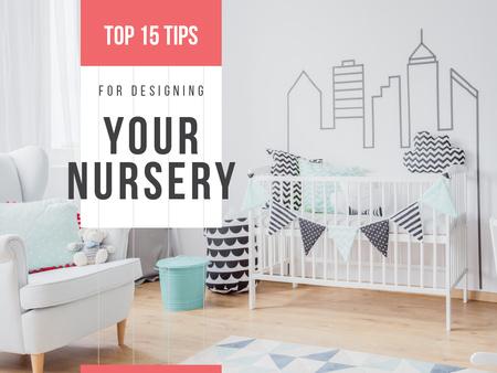 Ontwerpsjabloon van Presentation van Cozy nursery Interior