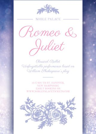 Plantilla de diseño de Romeo and Juliet ballet performance announcement Flayer