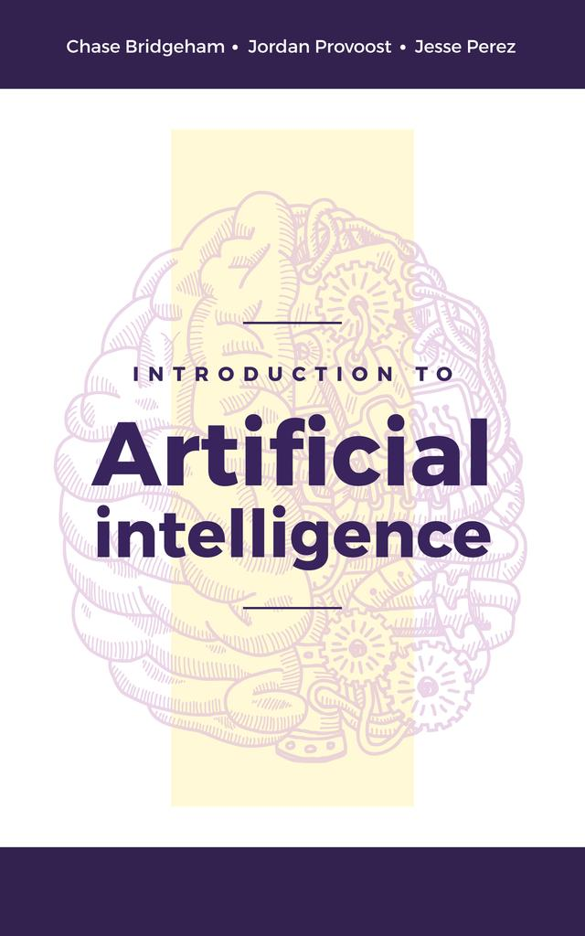 Artificial Intelligence Concept Brain Model — Crear un diseño