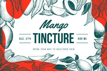 Alcohol brand ad with Mango frame