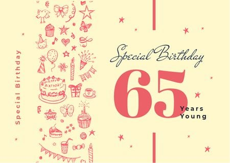 Template di design Birthday celebration Announcement Card