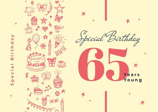 Template di design Birthday celebration Announcement Card