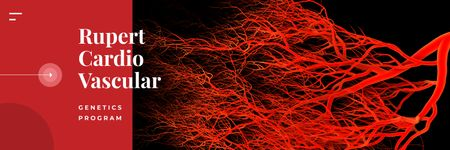 Plantilla de diseño de Blood vessels model Twitter