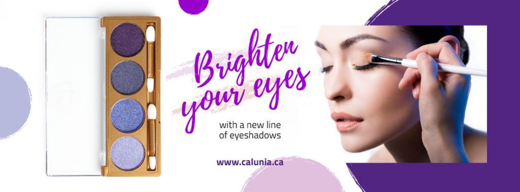 Cosmetics Offer with Beautician Applying Makeup — Créer un visuel