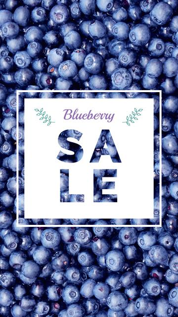 Plantilla de diseño de Raw ripe Blueberries sale Instagram Story