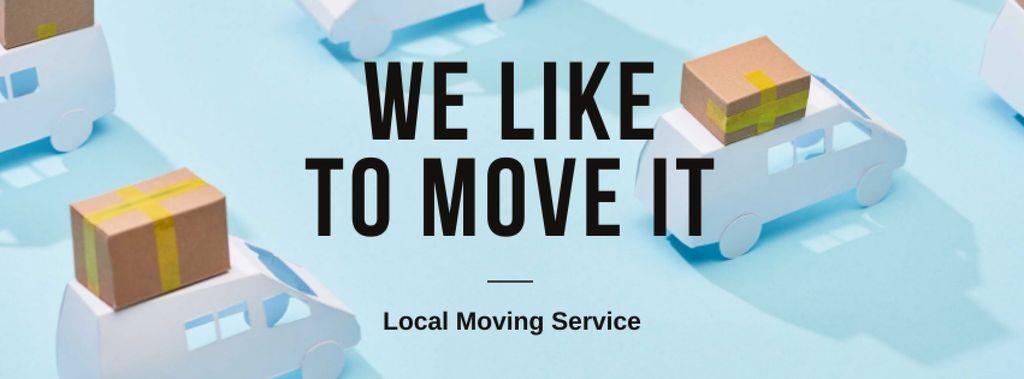 Moving Services ad with Trucks — Crear un diseño