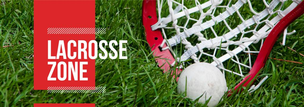 Lacrosse Stick and Ball on Green Lawn —デザインを作成する