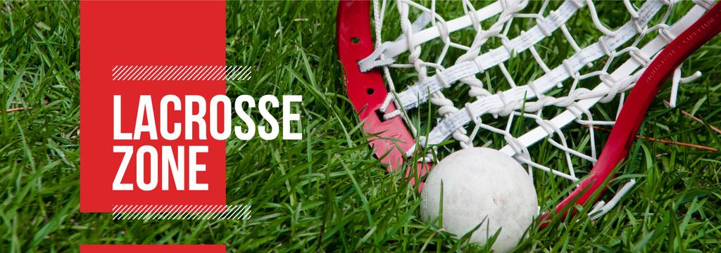 Lacrosse Stick and Ball on Green Lawn — Crea un design