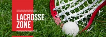 Lacrosse Stick and Ball on Green Lawn | Tumblr Banner Template