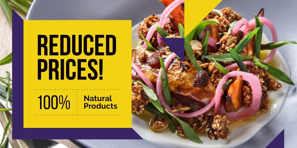 reduce prices poster for natural foods restaurant — Crea un design