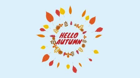 Plantilla de diseño de Autumn leaves frame Full HD video
