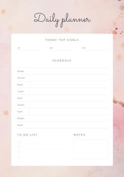 Daily Planner on Pink Texture