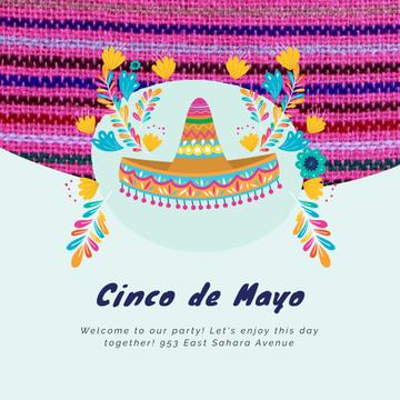 Cinco de Mayo Mexican holiday with Bright Sombrero