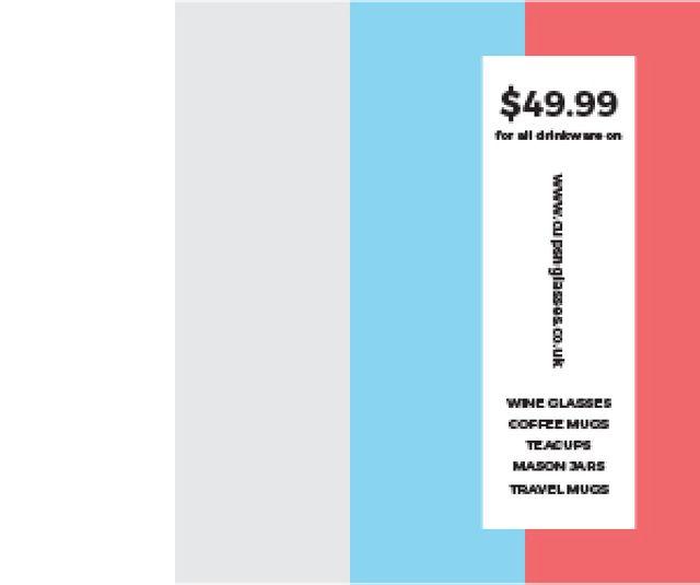 Drinkware for all shop Medium Rectangle – шаблон для дизайну