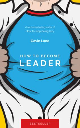 Plantilla de diseño de Leader Man in Superhero Shirt Book Cover