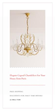 Ontwerpsjabloon van Graphic van Elegant Crystal Chandelier in White
