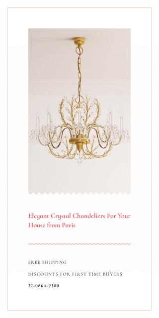 Plantilla de diseño de Elegant Crystal Chandelier in White Graphic