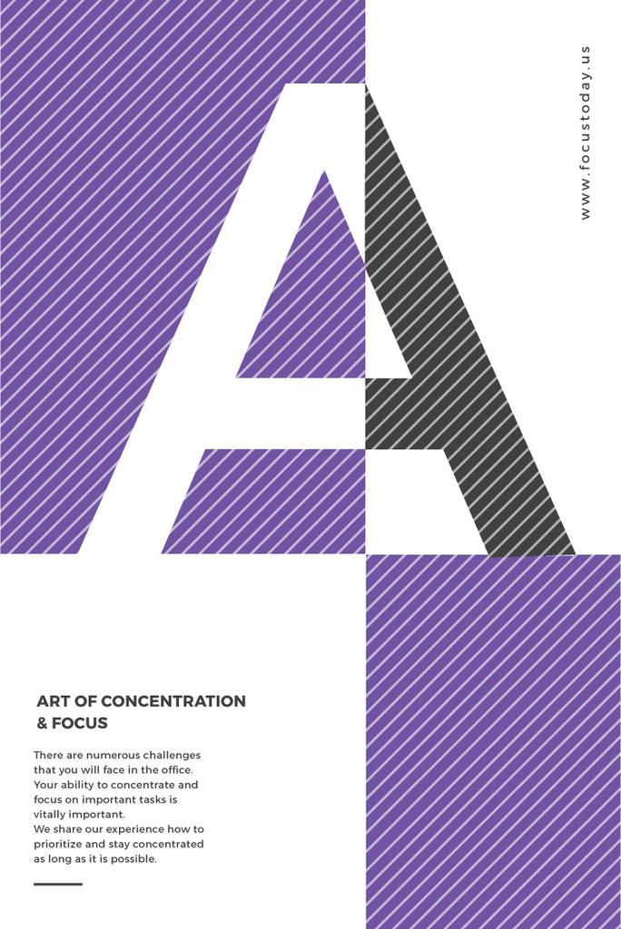 Event Announcement with Letter A on Purple — Créer un visuel