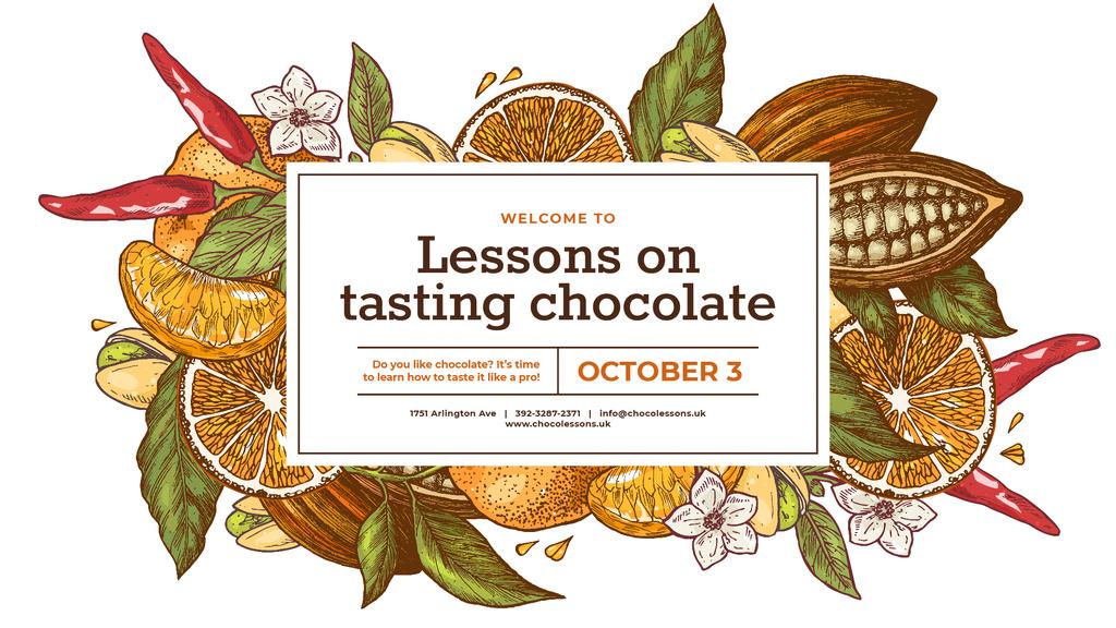 Cocoa Beans and Citruses Frame — Создать дизайн