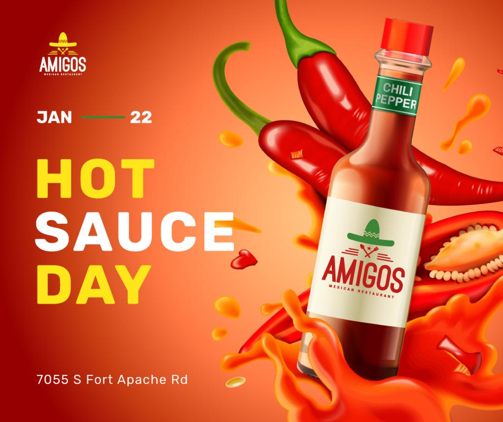 Hot chili sauce day celebration — Créer un visuel
