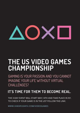 Video games Championship Poster Modelo de Design