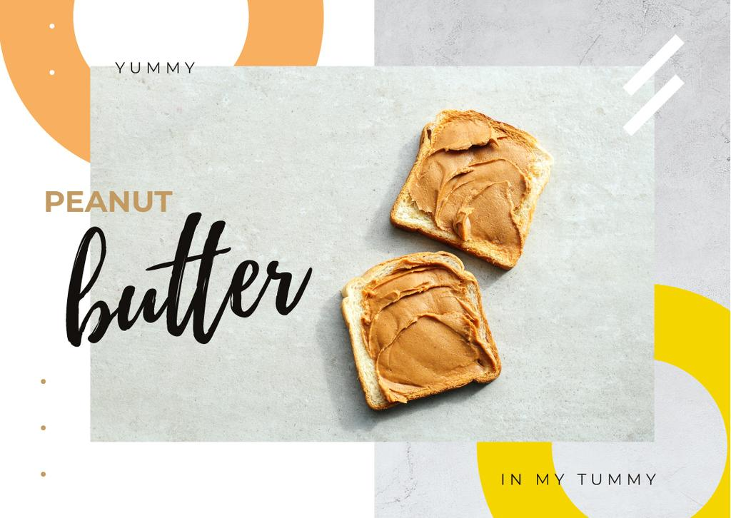 Toasts with peanut butter — Créer un visuel