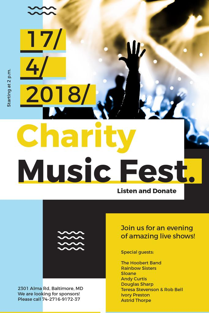 Music Fest Invitation Crowd at Concert | Tumblr Graphics Template — Crear un diseño